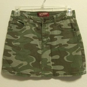Arizona brand camouflage denim skirt girl's 14 reg